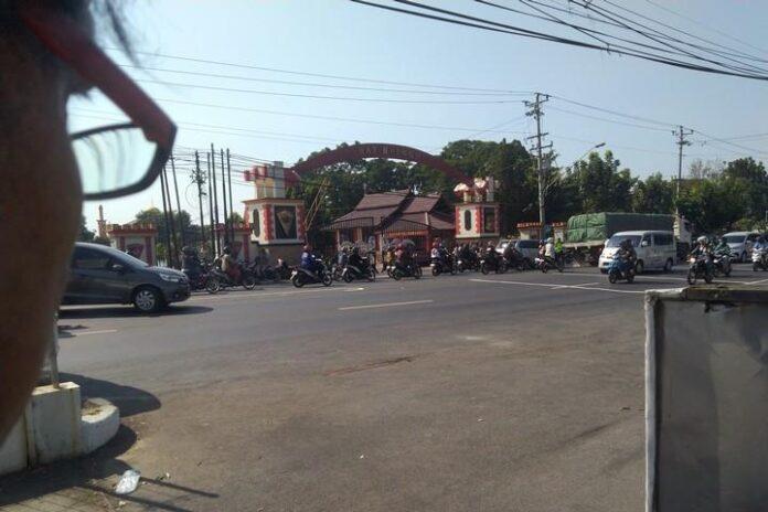 Mako Brimob Srondol dijaga aparat kepolisian, Sabtu (14/9).