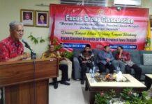 Asisten Pemerintahan Setda Jateng Sarwa Pramana saat mengucapkan selamat bertugas dan ucapan terima kasih kepada anggota DPD RI asal Jateng, Rabu (25/9) malam.