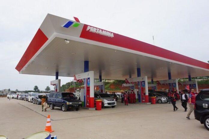 SPBU rest area Tol Semarang-Batang