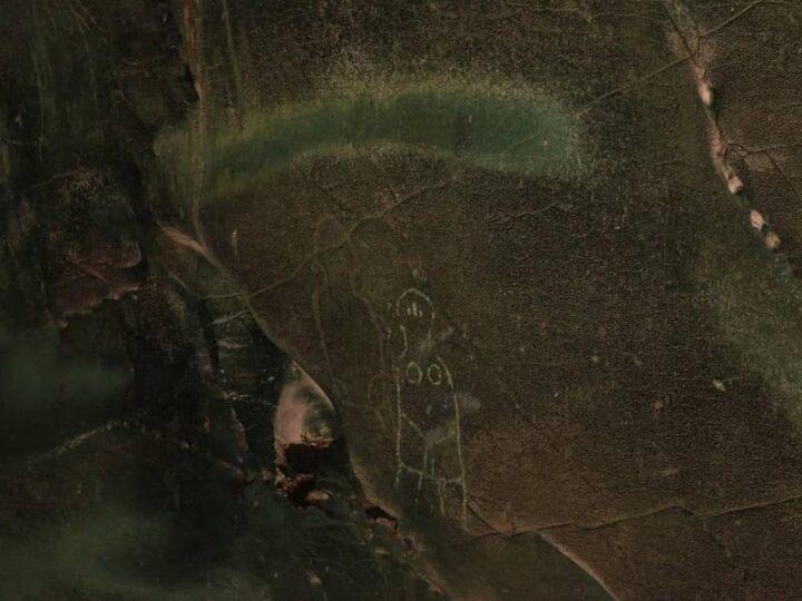 Gambar manusia prasejarah di Gua Kontilola