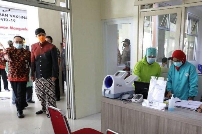 Vaksinasi di RSUD dr Gunawan Mangunkusumo di Ambarawa