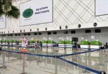 Konter boarding pass Bandara Ahmad Yani