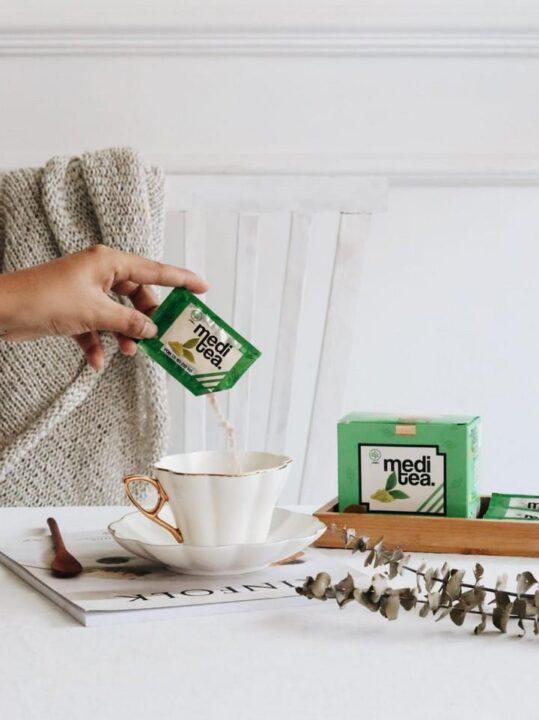 Ekstraksi teh hijau Meditea