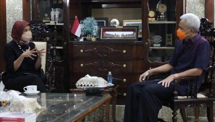 Najelaa Shibah bertemu Gubernur Ganjar